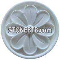 Natural White Stone 3D Marble Flower Wallart Relief Tiles