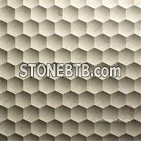 Natural marble 3d wall cladding interior tile
