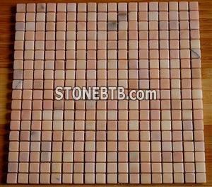Furong red marble mosaic