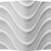 White Artificial Stone 3D Wall Panel