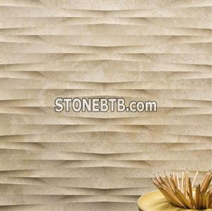 Artificial stone 3d cnc embossed wall board