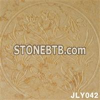 3d cnc yellow marble wall decor panel