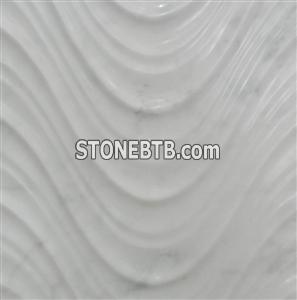 3d white nature stone wall covering