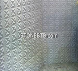 3d Italy white feature stone wall cladding panel