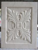 3d white jade stone cladding panel design