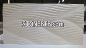 3d decor stone wave wall panel cladding