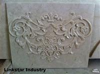 3d beige marble interior wall decoration tile