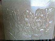 3d beige stone flower decor wall covering panels