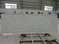engineered stone 3D white interior feature wall design