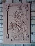 3D natural sandstone flower motif wallart design