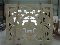 Decorative 3d carved stone relief wall covering panels