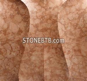 Natural 3D roso verona marble feature wall tile
