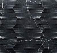 3D Black marquina feature stone wall tiles