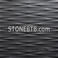 3d black stone feature wall cladding tile