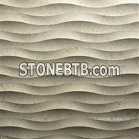 3d decorative wavy interior stone wall finishes