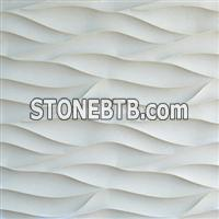 3d beige artistic decor stone wallart tile
