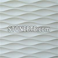3D decorative wavy stone wall art tile pattern