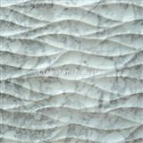 Natural white carrara 3d decor feature stone wall tile