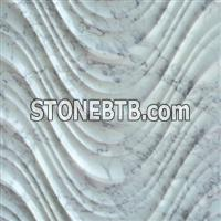 Decorative 3D natural carrara white stone art tile