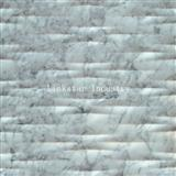 Decorative 3D natural white carrara modular stone cladding tile