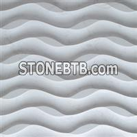 3d 3D white interior stone wall art veneer tile