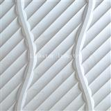 3D white artistic sculptural stone wall art cladding tile