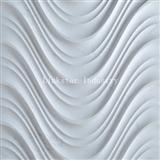 3D White Interior Luxury Wavy Stone Wall Art Tile