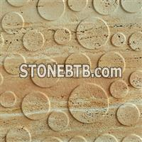 3d natural travertine wall interior design