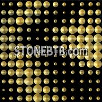 Gold leaf 3D natural luxury stone cladding wall tile
