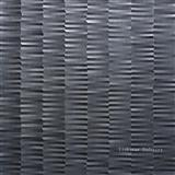 3d black stone feature wall tile