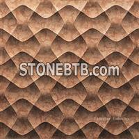 Natural marble 3d decorative internal wall panels
