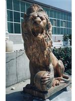 Animal Lion Stone Sculpture