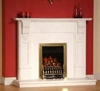 white color fireplace