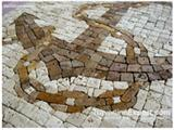Anchor Medallion Mosaic Travertine