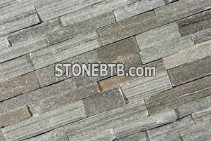 Plain grey quartzite stone wall cladding