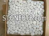 White Pebblestone Mosaic