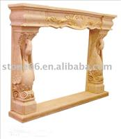 natural sandstone fireplace
