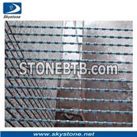 Diamond Wire Saw Cutting Granite Slabs