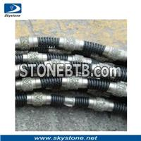 Diamond Wire Saw for Marble and Limestone Quarry Fixed by Spring