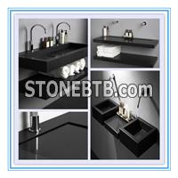 chinese black granite sink