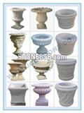 Stone Flower Pot Carving