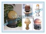 Stone fountain ball