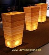 Translucent Honey Wood Vein Onyx Bar Tops
