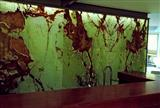 Backlit Green Onyx Glass Stone wall