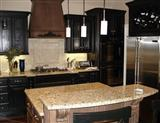 Giallo Ornamental Granite Kitchen Countertop