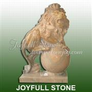 Marble Lion Sculptures