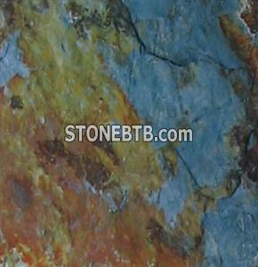Chinese rusty green slate tile