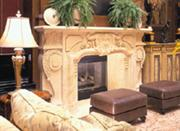 Custom Marble Fireplace