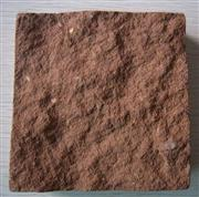 Red sandstone cube natural surface
