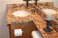 Tropical Rainforest Brown Marble Vanity